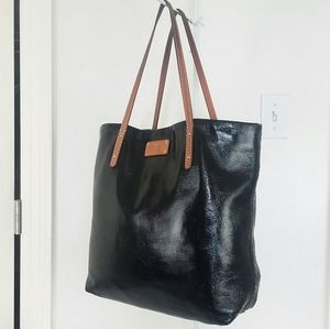 Kate Spade Black Patent Leather Tote Shoulder Bag